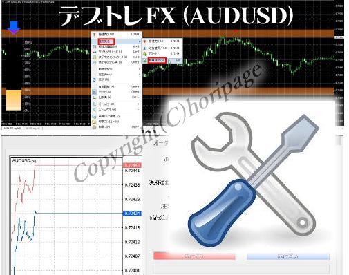 デブトレ FX 専用特典①AUDUSDインジケータ